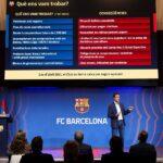 """El FC Barcelona estima que con su actual plan de viabilidad y su plan estratégico necesitará al menos cinco años para """"balancear sus números deficitarios""""; esto según los cálculos del director general del club, Ferran Reverter."""